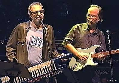 Walter Becker and Donald Fagen of Steely Dan on stage